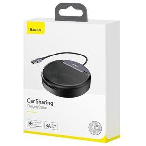 Baseus Car Sharing latausasema USB - Lightning + USB-C + Micro USB