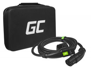 Green Cell Sähköauton latauskaapeli - Tyyppi 2 - 5m / 22kW / 32A / 3-vaihe