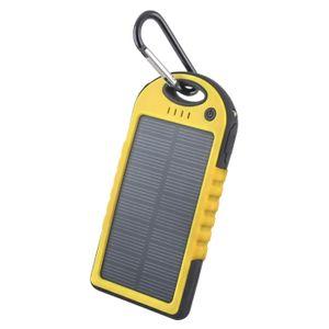 Forever STB-200 Aurinkokenno Power Bank vara-akku taskulampulla - 5000 mAh - Keltainen