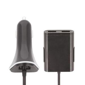 Forever USB Autolaturi Matkustajille pitkällä johdolla - 4 X USB