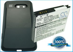 HTC Surround, 7 Surround, T8788, Mondrian, PD26100     Extended Battery with Back Cover yhteensopiva akku - 2400 mAh