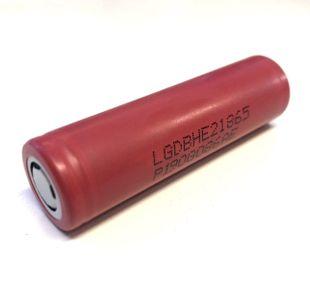 LG INR 18650 HE2 Li-ion akku 2500 mAh Ilman suojapiiriä