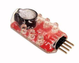 Mini LED Jännitemittari lipo akuille hälyttimellä