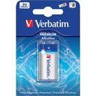 Verbatim paristo, 9V/6LR61, Premium Alkaline, 1-pakkaus