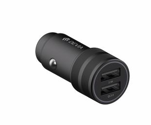 Devia SM7 QC 3.0 2 x USB Autolaturi 30W musta