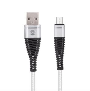 Forever Shark micro USB-kaapeli 1 m, hopea