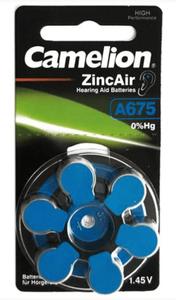 Camelion A675 IEC-PR44 kuulokoje nappiparisto 6 kpl pakkaus