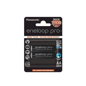 Panasonic Eneloop Pro R6 / AA 2500 mAh ladattava akku – 2 kpl