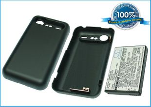 HTC Incredible S, Incredible S S710E, S710E, PG32130   Extended With Back Cover yhteensopia akku - 2400 mAh