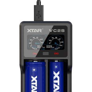 XTAR VC2S Li-ion / Ni-MH Akkuparistolaturi USB-liitännällä & digitaalisella näytöllä