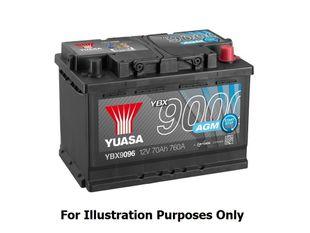 Yuasa YBX9027 12V 60Ah 680CCA AGM Start Stop Plus Käynnistysakku