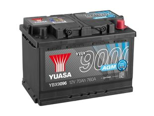 Yuasa YBX9096 12V 70Ah 760CCA AGM Start Stop Plus Käynnistysakku