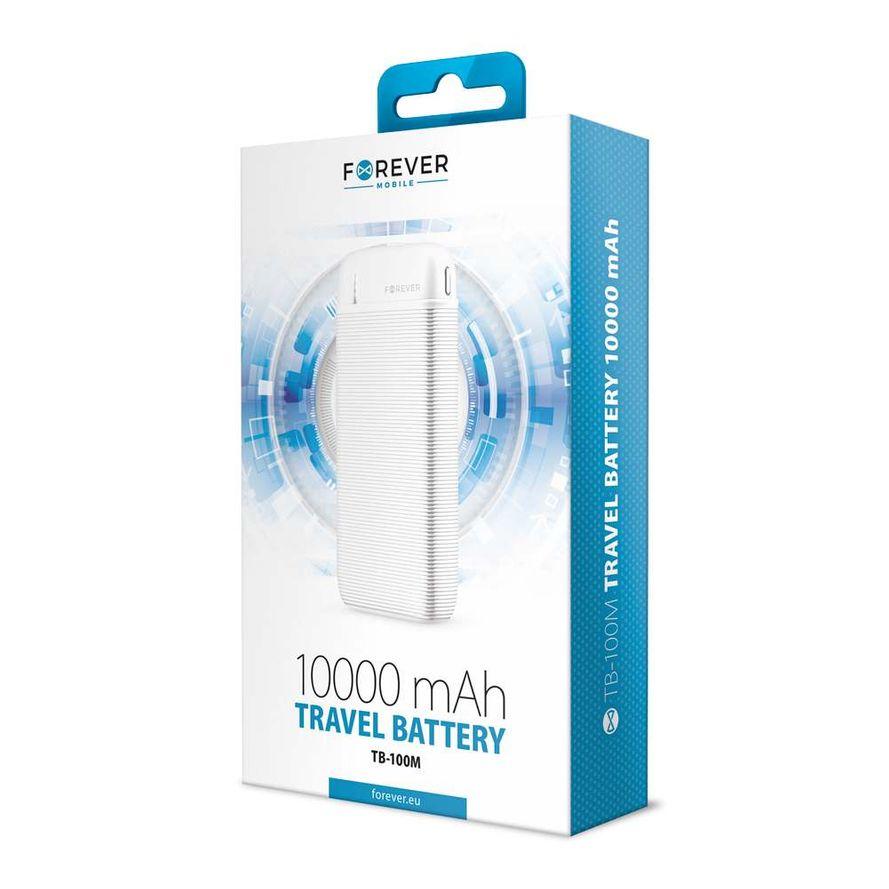 Forever Powerbank varavirtalähde 10000mAh TB-100M - Valkoinen