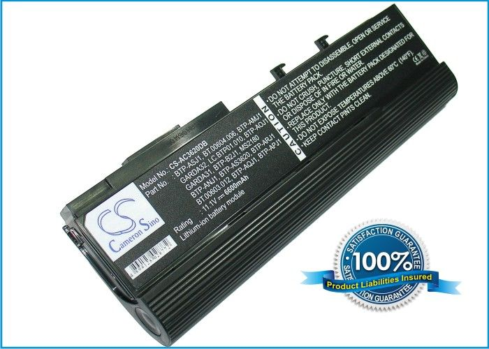 Acer Aspire 5550, TravelMate 6252 akku 6600 mAh