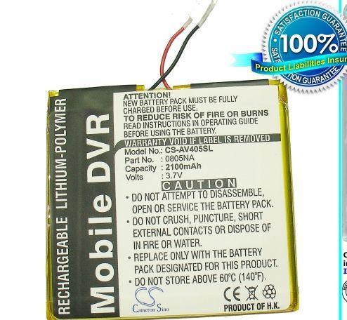 Archos AV405 4GB, AV405 2GB, AV405 Protable Media Player 4GB, AV405 Protable Media Player 2GB akku 2100 mAh