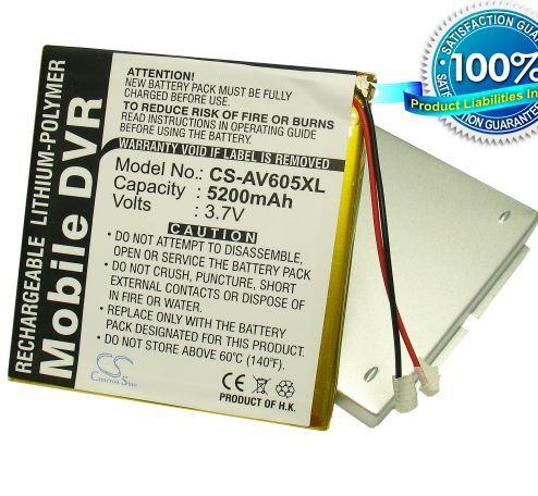 Archos AV605 120GB, AV605 160GB, AV605 Wifi 120GB, AV60 160GB Extended with cover akku 5200 mAh