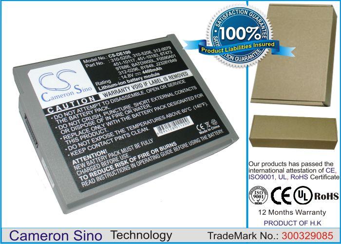 Dell Inspiron 1100, Inspiron 1150, Inspiron 5100 Series, Inspiron 5150, Inspiron 5160 akku 4400 mAh