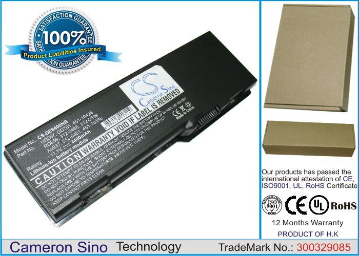 Dell Latitude 131L, Inspiron 1501, Inspiron E1505, Vostro 1000, Inspiron 6400 akku 4400 mAh