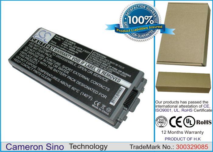 Dell Latitude D810, Precision M70 akku 6600 mAh