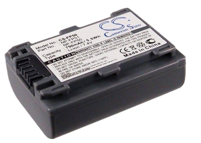 Sony NP-FP50, NP-FP30, NP-FP51 yhteensopiva akku 750 mAh
