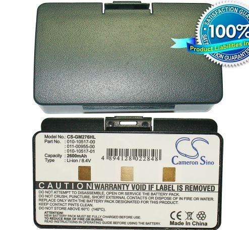 Garmin GPSMAP 276, GPSMAP 276c, GPSMAP 296, GPSMAP 396, GPSMAP 496 Extended 8.4V akku 2600 mAh
