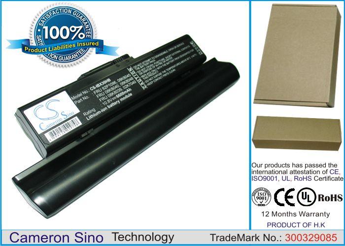 IBM ThinkPad X30, ThinkPad X31, ThinkPad X32, ThinkPad X30-2672, ThinkPad X30-2673 akku 6600 mAh