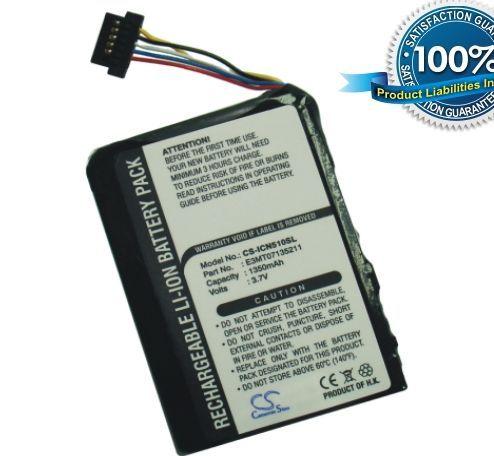 Navman iCN 510, iCN 520, iCN 530, iCN550 akku 1350 mAh