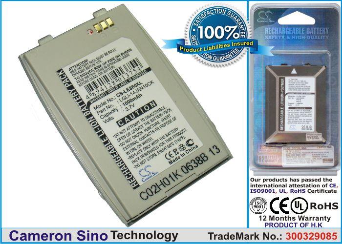 LG EG880, G5400, G5410 / hopea tehoakku 1000 mAh