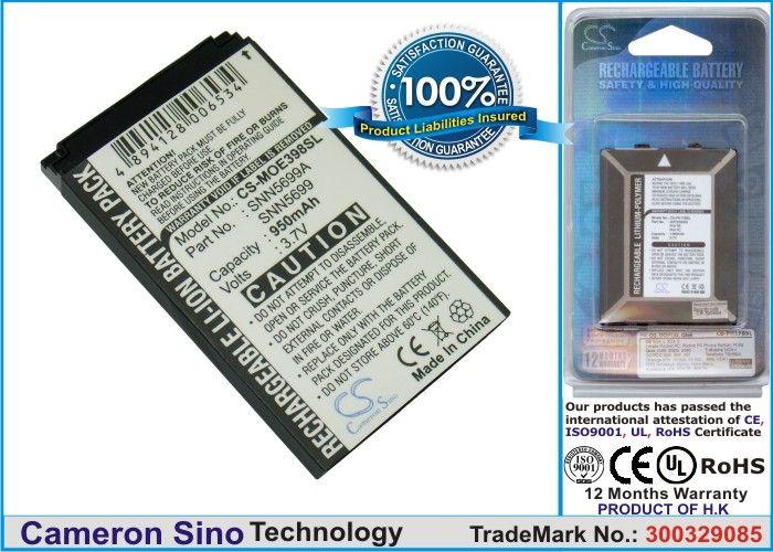 Cameron Sino tarvikeakku Motorola E398, ROKR E1, ROKR E3, V810, C150 akku 950 mAh
