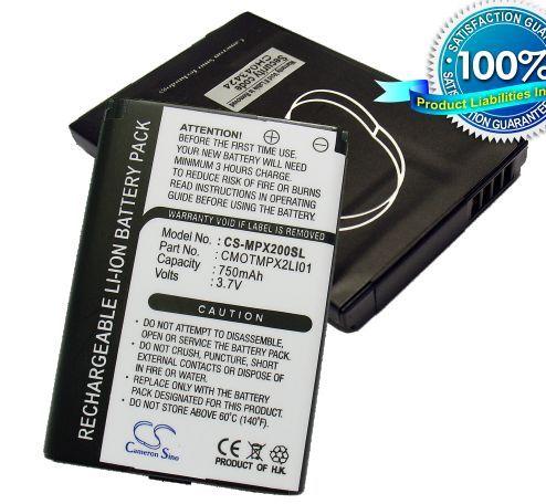 Cameron Sino tarvikeakku Motorola MPX200 akku 750 mAh