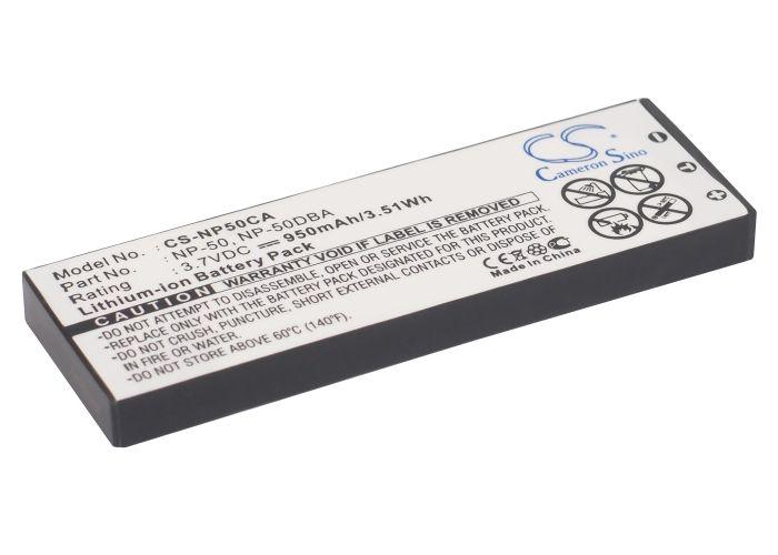 Casio NP-50, NP-50DBA yhteensopiva akku 950 mAh