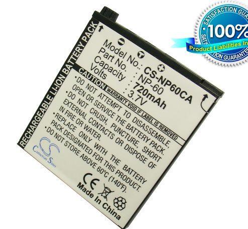 Casio NP-60 yhteensopiva akku 720 mAh