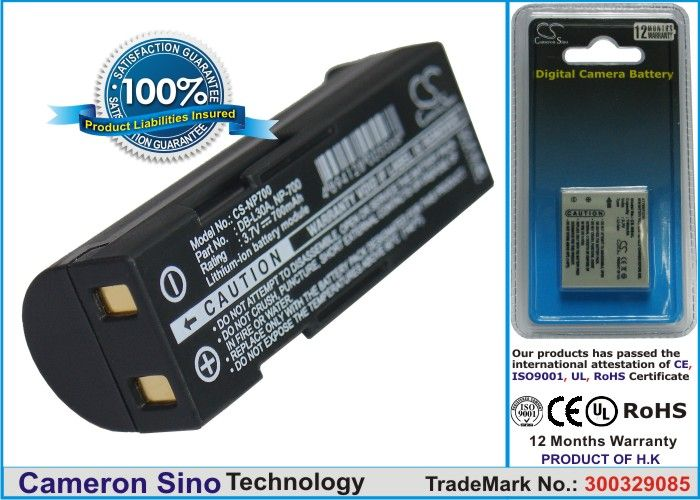 Samsung SLB-0637 yhteensopiva akku 700 mAh