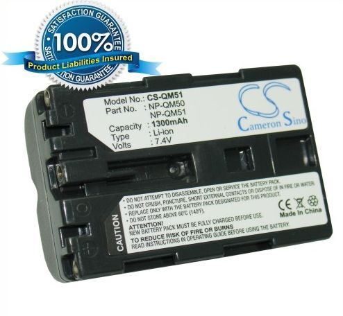 Sony NP-QM50, NP-QM51 yhteensopiva akku 1300 mAh