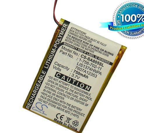 Sony NWZ-A801, NW-A805, NW-A806, NWZ-A810, NW-A815, NW-A816, NWZ-A818, akku 750 mAh