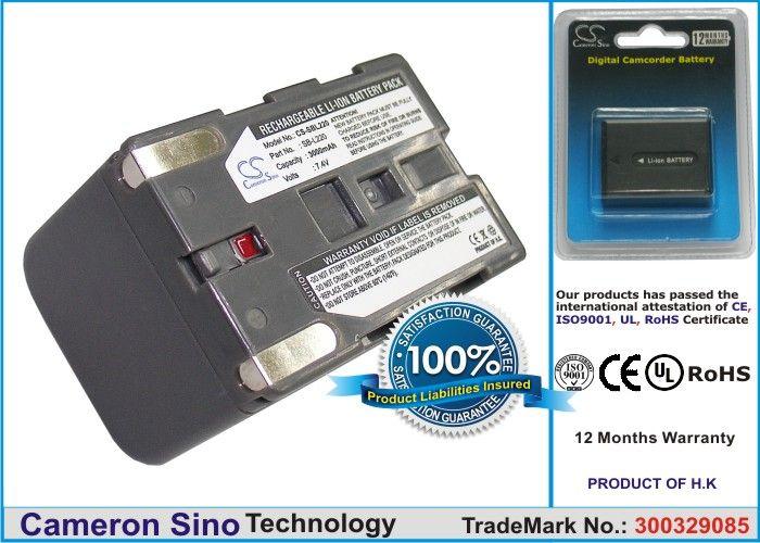 Samsung SB-L220, SB-L110, SB-LS70AB, SB-L70A, SB-L70R, SB-L70  yhteensopiva akku 3000 mAh