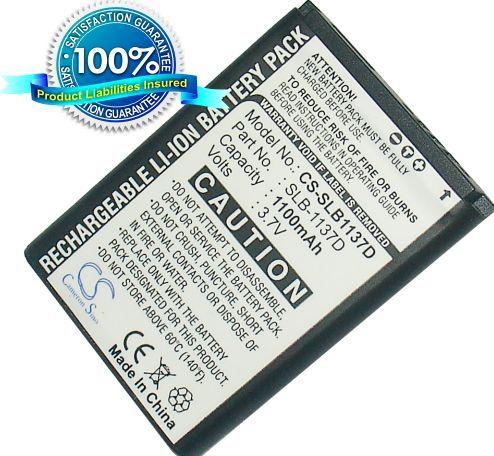 Samsung SLB-1137D yhteensopiva akku 1100 mAh