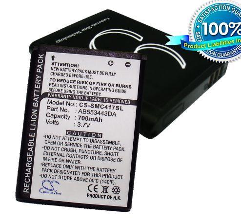 Samsung SGH-C416, SGH-C417, SGH-A737 / musta akku 700 mAh