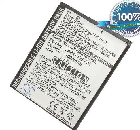 Samsung SGH-G810, SGH-D780, SGH-i550, SGH-i560, GT-i8510, GT-i7110, SGH-W699 akku 1000 mAh
