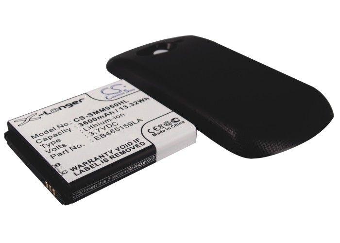 Samsung Galaxy Reverb SPH-M950, tehoakku erillisellä laajennetulla mustalla takakannella 3600 mAh