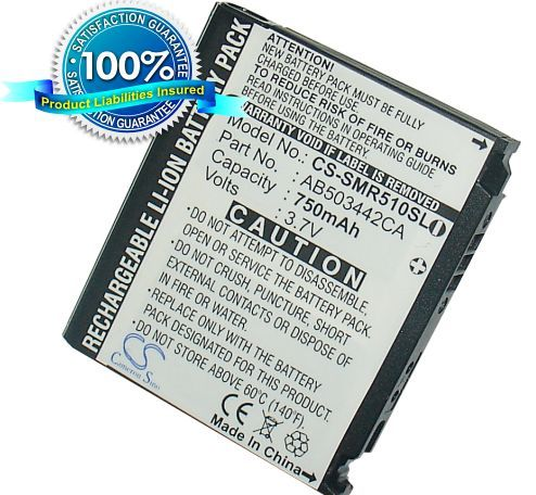 Samsung SPH-M520, SCH-R500, SCH-R510, SGH-T519, SCH-R610, SGH-T729, SCH-R500, SGH-E480, SGH-U100, SGH-U108, SGH-Z370, SGH-A127 akku 750 mAh