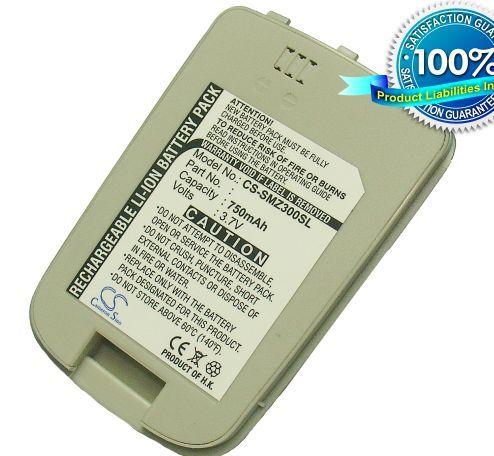 Samsung SGH-Z300, SGH-Z308, ZM60, ZM-60 / hopea, valkoinen akku 750 mAh