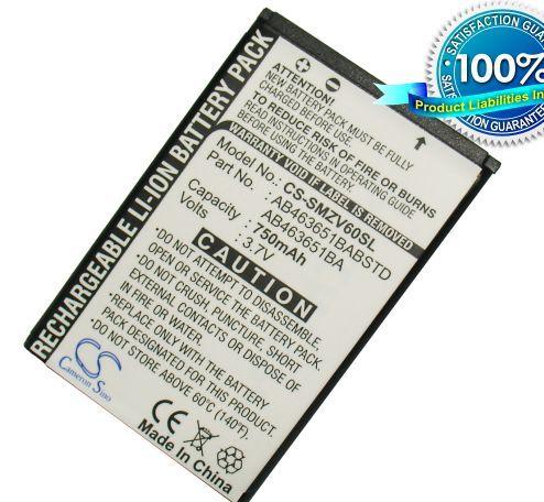 Samsung SGH-ZV60, SGH-T739, SGH-W559, SGH- T739 Katalyst, SGH-R450, SGH-R450 Katalyst akku 750 mAh
