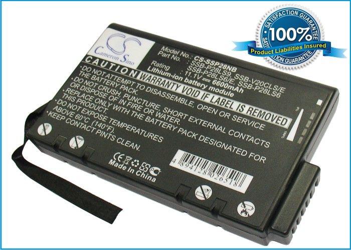 Samsung SSB-P28LS9, SSB-V20CLS/E, SSB-P28LS6/E, SSB-P28LS6, SSB-V20KLS akku 6600 mAh