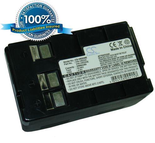 Panasonic VBS20E, HHR-V211, HHR-V212, NV-A3, NVA3, P-V211, P-V212, VSB-0190, VSB-0200, VW-VBH10E, VW-VBS10, VW-VBS10E, VW-VBS20 yhteensopiva akku 2400 mAh
