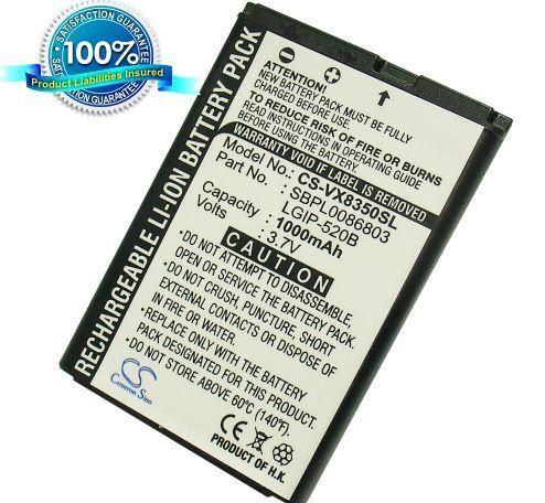LG VX8350, VX5200, VX5400, VX5500 akku 1000 mAh