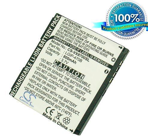 LG VX8700, VX-8700, VX8700 shine, LX-570, LX570 MUZIQ, Dekoy, VX8610 akku 800 mAh