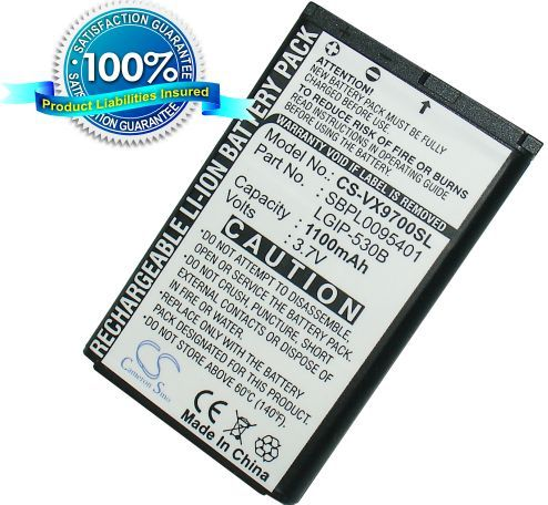 LG VX9600, VX9600 Versa, VX9700, VX9700 Dare akku 1100 mAh