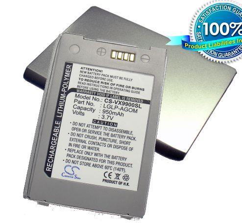 LG VX9900, VX-9900, LX9900, LX-9900, enV akku 950 mAh