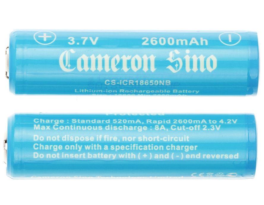 Cameron Sino / Samsung 18650 Li-ion Akku 2kpl 2600mAh